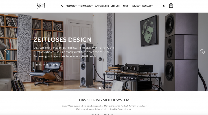 Sehring Audio Systeme GmbH hochwertige Lautsprecher Modulsysteme Made in Germany