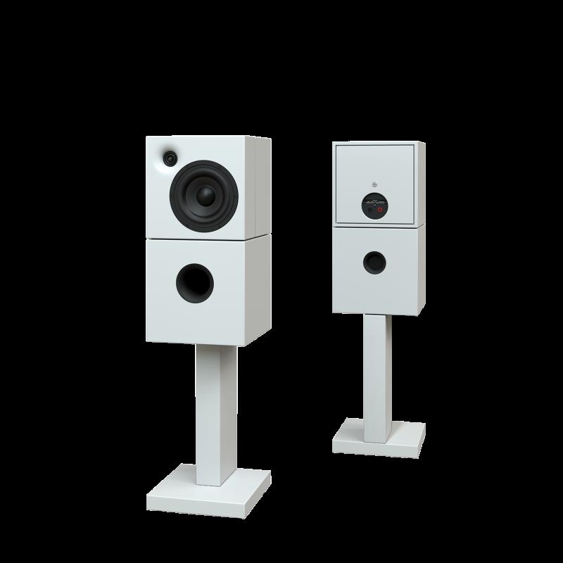 Sehring Audio Systeme 2-Wege-Lautsprecher M802 weiss mit schmalem Sehringstativ