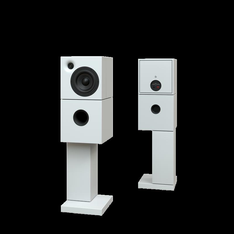 Sehring Audio Systeme 2-Wege-Lautsprecher M802 weiss mit breitem Sehringstativ
