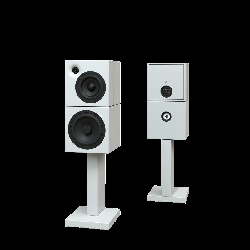 Sehring Audio Systeme 2-Wege-Lautsprecher M803 weiss mit schmalem Sehringstativ