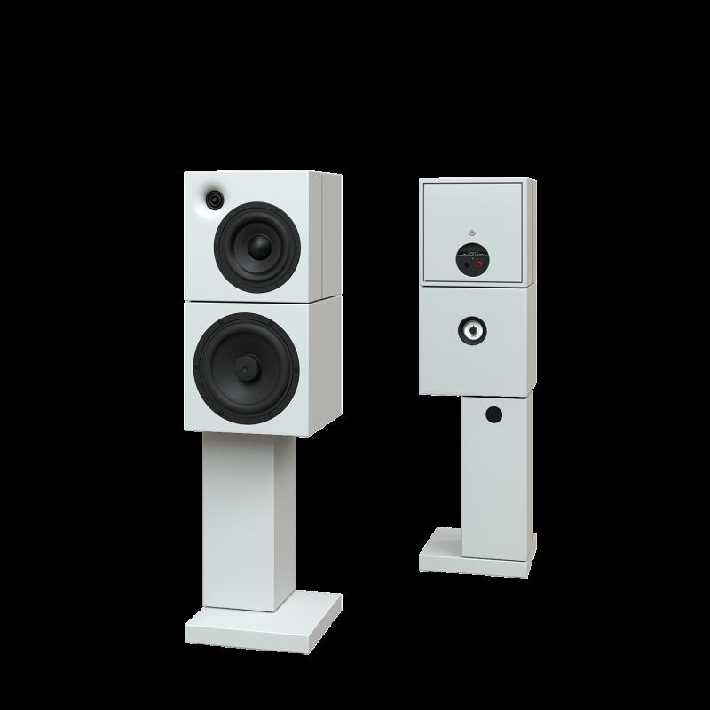 Sehring Audio Systeme 2-Wege-Lautsprecher M803 weiss mit breitem Sehringstativ