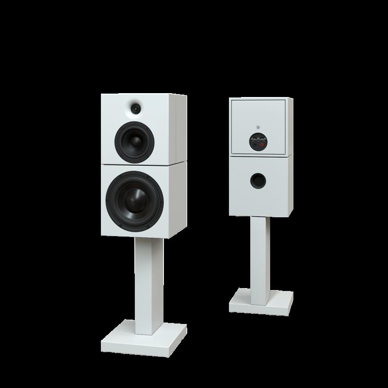 Sehring Audio Systeme 2-Wege-Lautsprecher M901 weiss mit schmalem Sehringstativ