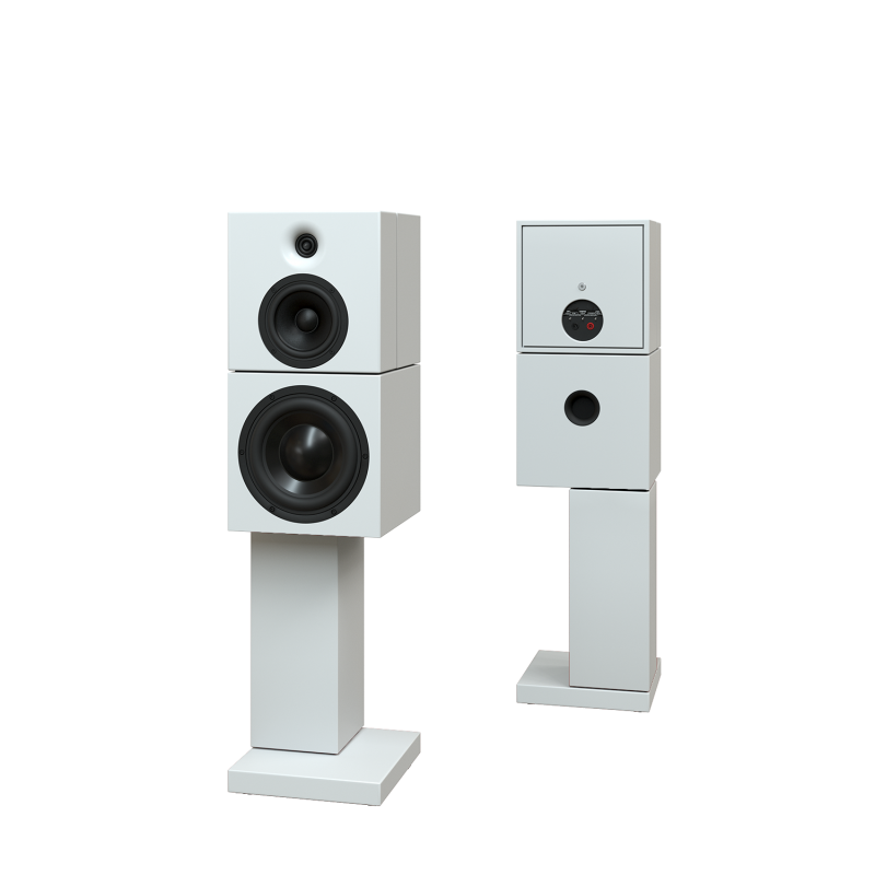 Sehring Audio Systeme 2-Wege-Lautsprecher M901 weiss mit breitem Sehringstativ